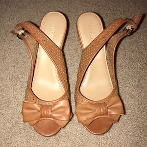Brown Bow Wedges